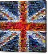 Union Jack Flag Mosaic Canvas Print