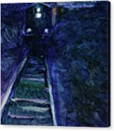 Union Pacific At Night Canvas Print