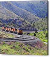 Union Pacific Coal Train In Kyune Utah Canvas Print