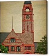 Union Pacific Railroad Depot Cheyenne Wyoming 01 Textured Canvas Print