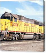 Union Pacific Up - Railimages@aol.com Canvas Print