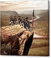 Union Soldiers On Lookout Mountain Canvas Print