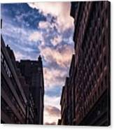 Dusk Over A Union Square Coffee Canvas Print