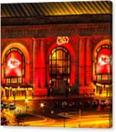 Union Station In Chiefs Red Canvas Print