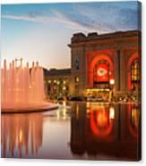 Union Station Kansas City Chiefs Canvas Print