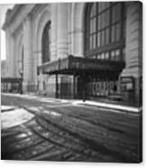 Union Station Kansas City In The Snow Canvas Print
