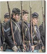 Union Veteran Soldiers Parade  Canvas Print