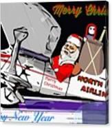 Unique Greets Original Holiday Greeting Card  Canvas Print
