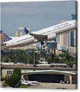 United Airlines Canvas Print