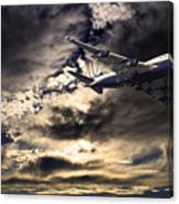 United Airlines . Flying The Friendly Skies Canvas Print