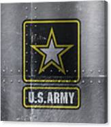 United States Army Logo On Steel Canvas Print