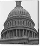 United States Capitol Building 3 Bw Canvas Print