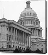 United States Capitol Building 4 Bw Canvas Print