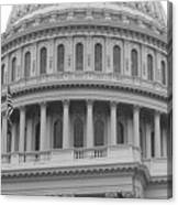 United States Capitol Building Bw Canvas Print