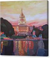 United States Capitol In Washington D.c. At Sunset Canvas Print