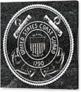 United States Coast Guard Emblem Polished Granite Canvas Print
