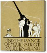 United States Navy Recruitment Poster From 1918 Canvas Print