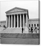 United States Supreme Court Building Bw Canvas Print