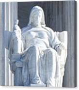 United States Supreme Court, The Contemplation Of Justice Statue, Washington, Dc 2 Canvas Print