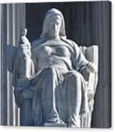United States Supreme Court, The Contemplation Of Justice Statue, Washington, Dc 3 Canvas Print