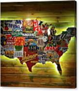 United States Wall Art Canvas Print