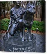 United States War Dog Memorial Canvas Print