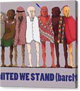 United We Stand Transparent Background Canvas Print