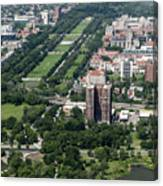 University Of Chicago Booth School Of Business And Midway Plaisance Park Aerial Photo Canvas Print