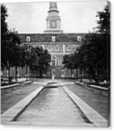 University Of North Texas Bw Canvas Print