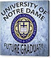 University Of Notre Dame Future Graduate Canvas Print