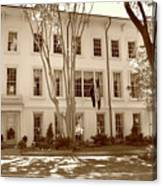University Of South Carolina President's Residence In Sepia Tones Canvas Print