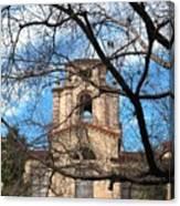 University Tower Mason Hall - Pomona College - Framed By Trees Canvas Print