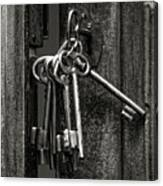 Unlocked - Keys And Opened Door Canvas Print