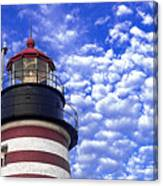 Unmistakable In Any Weather - West Quoddy Head Lighthouse Canvas Print