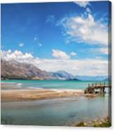 Unspoiled Alpine Scenery In Kinloch Wharf, New Zealand Canvas Print