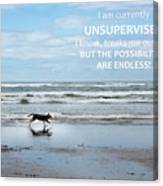 Unsupervised Canvas Print