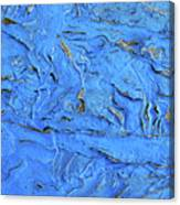 Untitled-weathered Wood Design In Blue Canvas Print