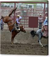 Bronco Rider Seven Canvas Print