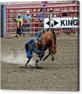 Bronco Rider Three Canvas Print