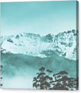 Untouched Winter Peaks Canvas Print