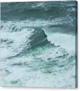 Unusual Green Wave Vertical Canvas Print