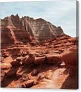 Unusual Rock Formations At Kodachrome Park, Utah Canvas Print