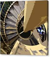 Up The Spiral Staircase Canvas Print
