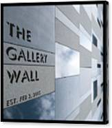 Up The Wall-the Gallery Wall Logo Canvas Print
