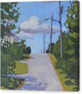 Uphill - Art By Bill Tomsa Canvas Print