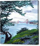 Upon Seeing The Golden Gate Canvas Print