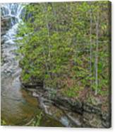 Upper And Middle Falls At Mine Kill State Park Canvas Print