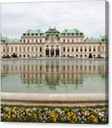 Upper Belvedere And Its Reflection  Canvas Print