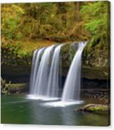 Upper Butte Creek Falls In Autumn Canvas Print