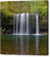 Upper Butte Creek Falls In Fall Season Canvas Print